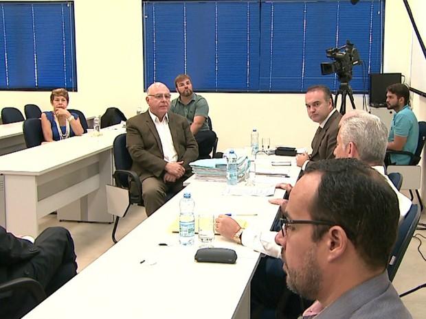 Arnaldo Jardim (PPS) depõe no Conselho de Ética da Câmara de Ribeirão Preto (Foto: Reprodução/EPTV)