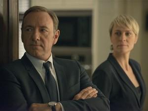 Kevin Spacey e Robin Wright em cena da segunda temporada de 'House of cards' (Foto: Divulgação)