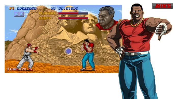 Por muito tempo jogadores pensaram que Balrog era o personagem Mike do primeiro Street Fighter, até a Capcom confirmar que são pessoas diferentes (Foto: Reprodução/Jamma+, Street Figher Wiki)