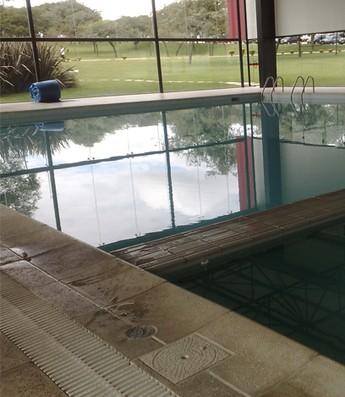 piscinas cobertas - ct do caju (Foto: Márcio Iannacca/Globoesporte.com)