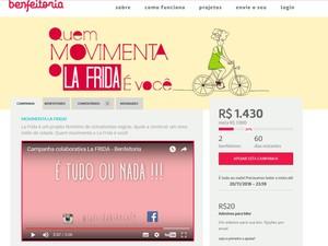 Campanha pretende arrecadar recursos para ampliar projeto (Foto: Reprodução/ Site Benfeitoria)