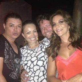 David Brazil, Solange Almeida, Wagner Miau e Ivete Sangalo em festa em Salvador, na Bahia (Foto: Instagram/ Reprodução)