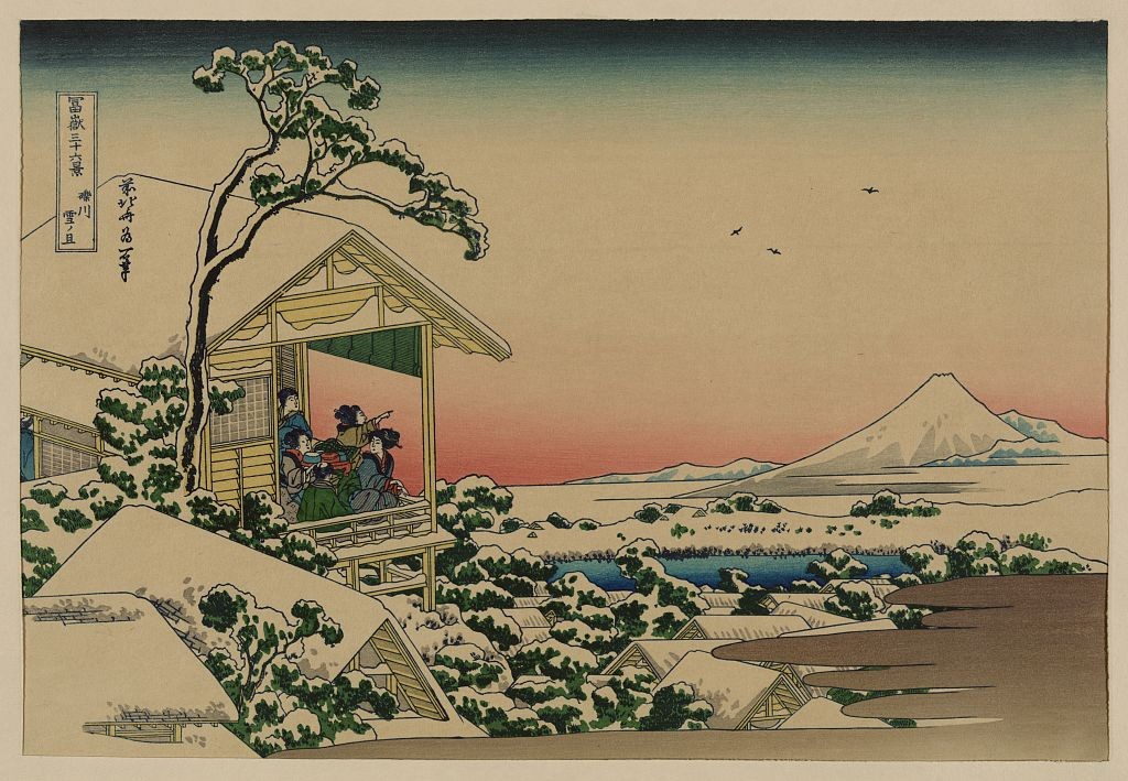 Teahouse at Koishikawa the morning after a snowfall (Foto: Katsushika, Hokusai, 1760-1849, artist)
