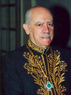 O jornalista e membro da Academia Brasileira de Letras (ABL) João de Scantimburgo, que fundou e presidiu a TV Excelsior e foi diretor dos 'Diários Associados' (Foto: Divulgação/ABL)