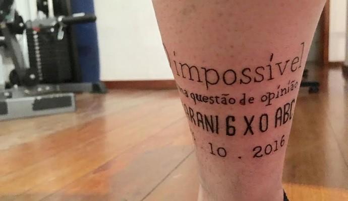 Tatuagem bugrino (Foto: Arquivo Pessoal)