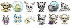 Emoticons de Animais