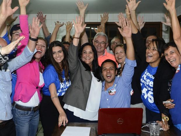 Rose de Freitas é a primeira mulher eleita para o senado no ES (Foto: Bernardo Coutinho/ A Gazeta)