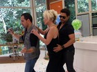 Desafio! Zezé e Luciano dançam 'Conga La Conga' com Ana Maria no Mais Você