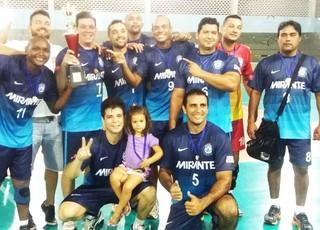 Praia Clube campeão do campeonato maranhense máster de vôlei (Foto: Divulgação / FMV)