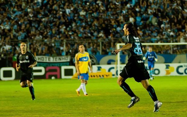 Barcos Grêmio gol Pelotas (Foto: Diogo Sallaberry / FuturaPress)