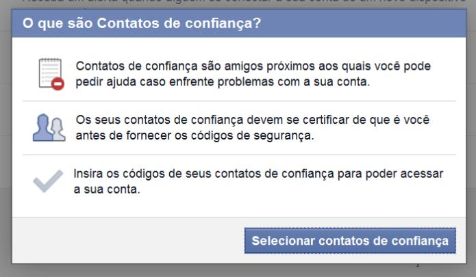 Adicionando amigos na lista de contatos confiáveis no Facebook (Foto: Reprodução/Lívia Dâmaso)