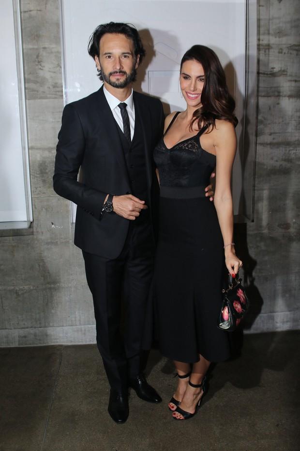 Rodrigo Santoro e a namorada, Mel Fronckowiak (Foto: Thiago Duran/AgNews)