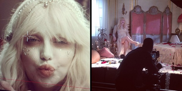 courtney love clipe wedding single (Foto: Reproduo/Instagram)