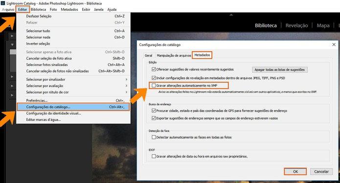 Evite gravar automaticamente os dados em XMP no Lightroom (Foto: Reprodução/Barbara Mannara)