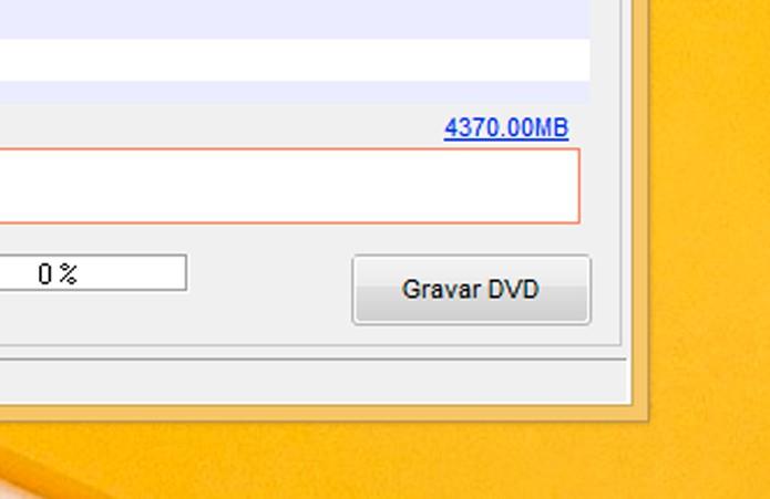 Clique em Gravar DVD (Foto: Reprodução/André Sugai)