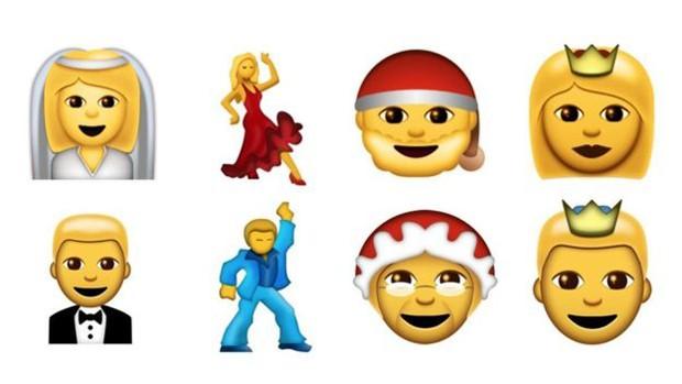 Na parte de cima estão os emojis mais antigos, e em baixo, os novos (Foto: Divulgação/Emojipedia)