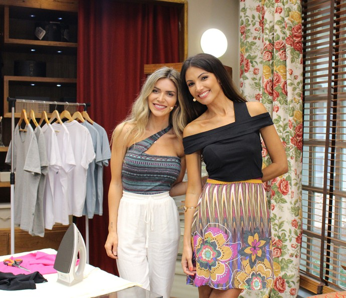 Blogueira Jéssica Belcost mostra como fazer uma blusa estilosa (Foto: Maria Eduarda Freitas / Gshow)