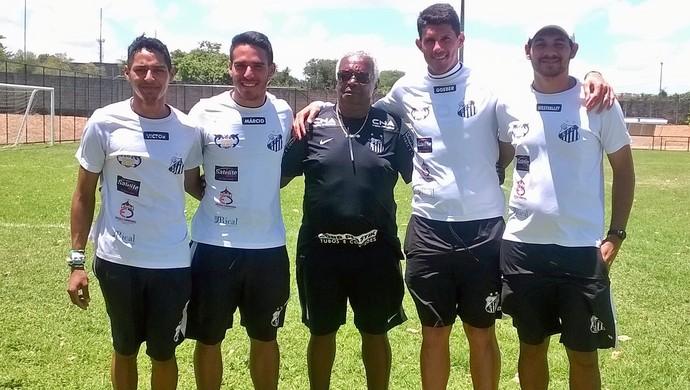 Lima - avaliador do Santos - Goeber - técnico Meninos da Vila Natal (Foto: Divulgação/Meninos da Vila Natal)