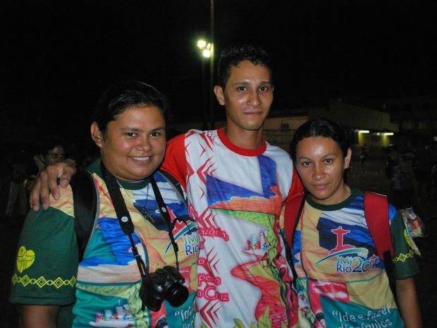 Fieis do Amazonas se preparam para a JMJ (Foto: Marcos Dantas/G1 AM)