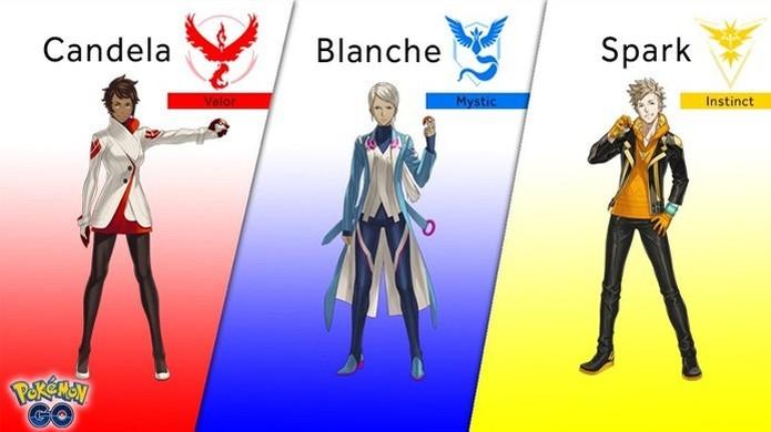 Pokémon Go recebeu os visuais dos líderes das equipes (Foto: Reprodução/Kotaku)  (Foto: Pokémon Go recebeu os visuais dos líderes das equipes (Foto: Reprodução/Kotaku) )