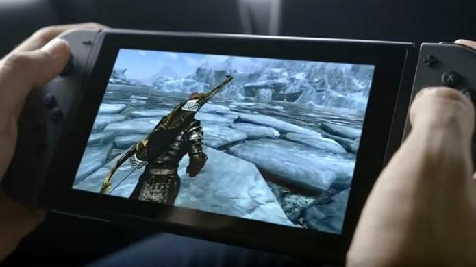 The Elder Scrolls 5: Skyrim - Special Edition foi exibido para o Nintendo Switch em seu vídeo de revelação (Foto: Reprodução/iTech Post)