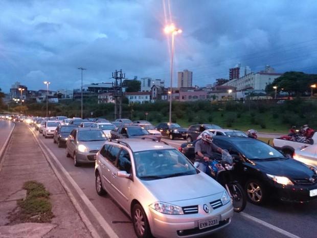 Protesto de ciclistas em Sorocaba (Foto: Tássia Lima/G1)