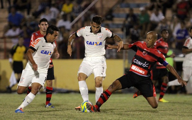 Jadson e Guerrero, Oeste x Corinthians (Foto: Célio Messias/Agência Estado)