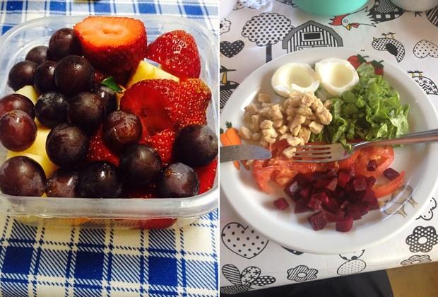 Frutas, salada, carne branca e alimentos integrais passaram a fazer parte do cardápio de Mateus (Foto: Mateus Carvalho/Arquivo pessoal)