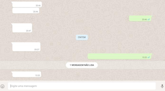 Conversas do WhatsApp Web ocultadas com a extensão WebChats Incognito Mode para Google Chrome (Foto: Reprodução/Marvin Costa)