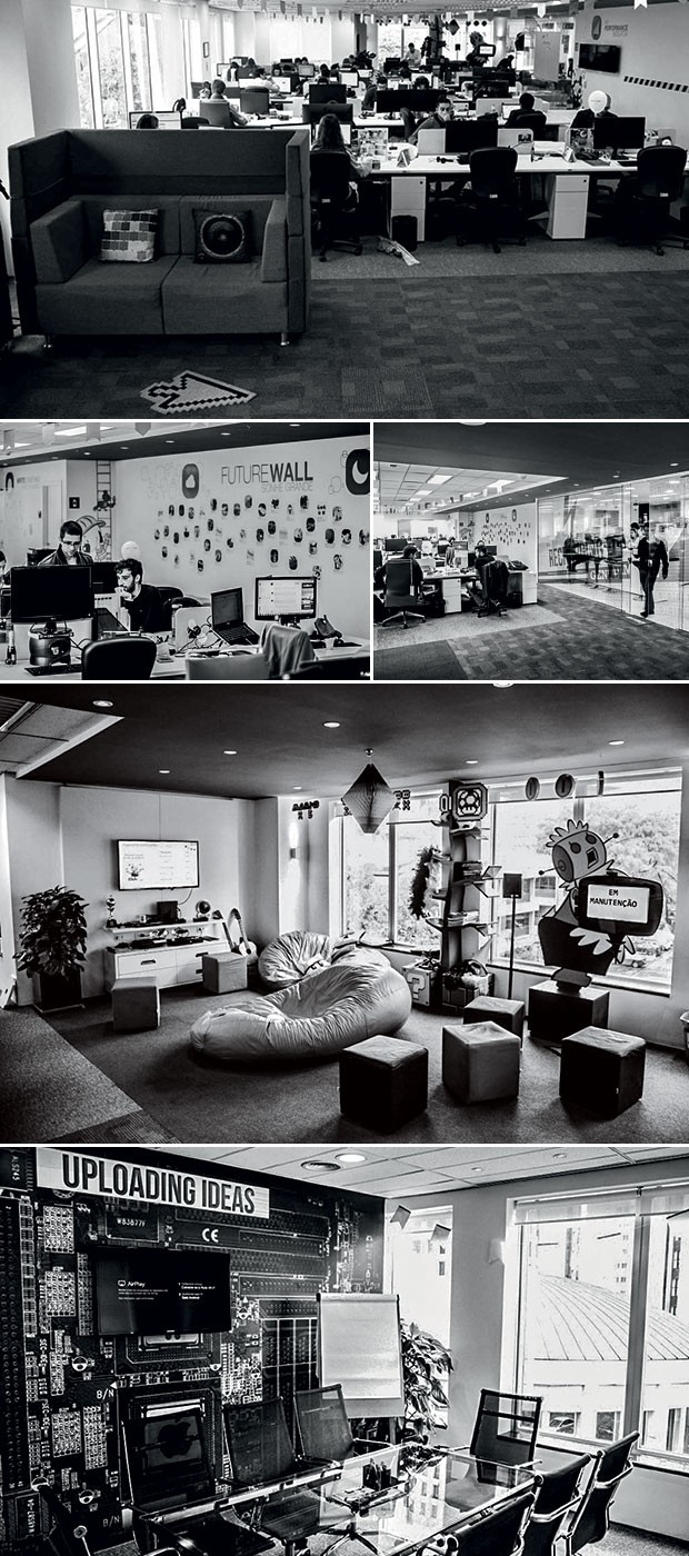 Mesmo grande, a Movile tenta manter o clima de startup nos seus 11 escritórios, com bebidas de graça, games e sessões de cinema (Foto: divulgação)