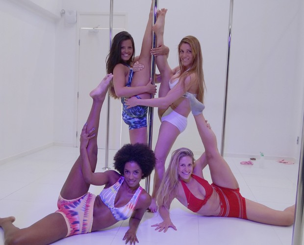 Bailarinas Pole Dance (Foto: Domingão do Faustão / TV Globo)