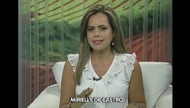 Apresentadora Mirielly de Castro  (Foto: Reprodução / TV Diário )