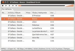 DeaDBeeF, player de áudio para Linux