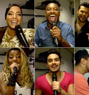 Famosos brincam e cantam suas músicas com gás hélio; assista! (TV Globo)