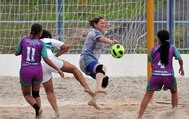 Futebol de areia feminino, Amazonas (Foto: Antônio Lima/Semdej)