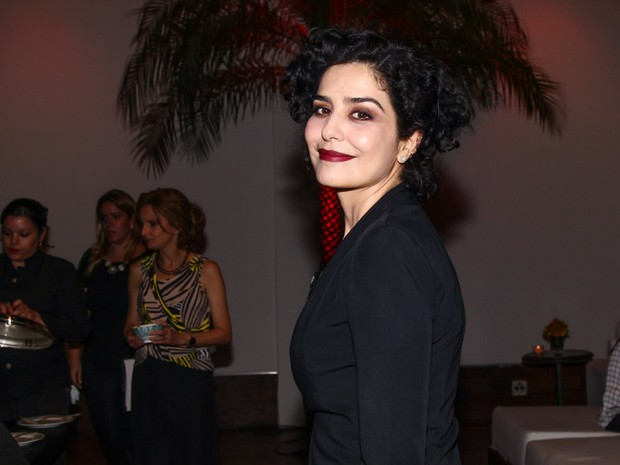 Letícia Sabatella em prêmio de teatro em São Paulo (Foto: Manuela Scarpa/ Foto Rio News)