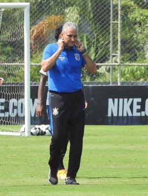 Tite treino Corinthians (Foto: Carlos Augusto Ferrari)