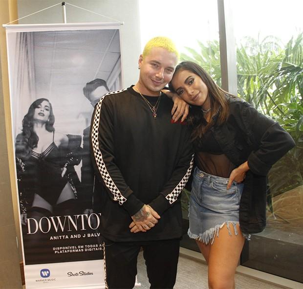 Anitta e J Balvin (Foto: Marcos Ferreira/ BrazilNews)