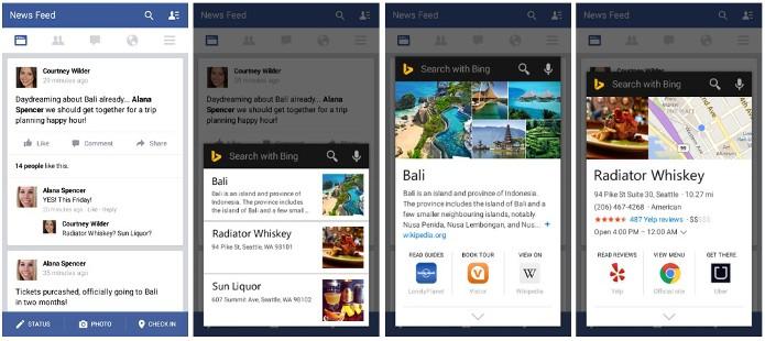 Nova API do Bing permite consultas a partir de qualquer app no Android (Foto: Divulgação)