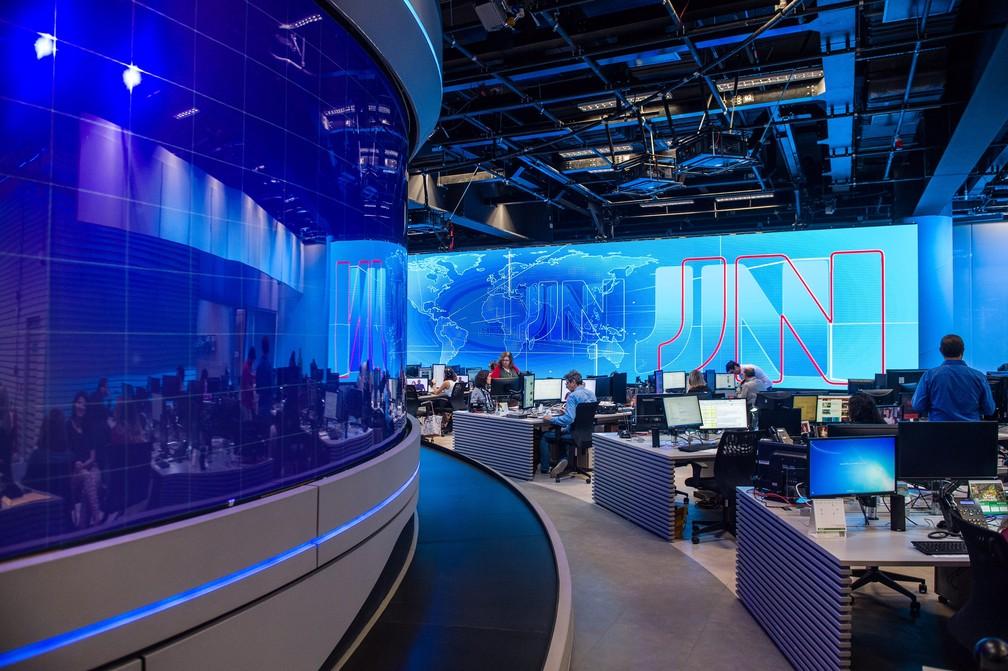 Novo estúdio do Jornal Nacional (Foto: João Cotta/TV Globo)