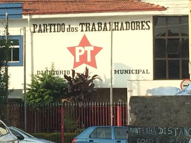 Sede do Partido dos Trabalhadores vazio na tarde desta segunda-feira (31), em Santo André (Foto: Glauco Araújo/G1)
