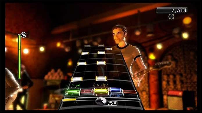 As notas laranja em Rock Band 4 costumam vir em níveis mais altos (Foto: Divulgação/Harmonix)