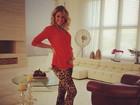 Ana Hickmann segura barriguinha de gravidez: 'Estou muito feliz'