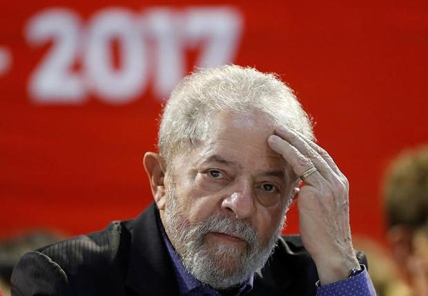 O ex-presidente Luiz Inácio Lula da Silva participa do Congresso do PT  em São Paulo (Foto: Leonardo Benassatto/Reuters)