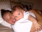 Letícia Birkheuer mostra momento fofo com o filho: 'Amo esta foto!'