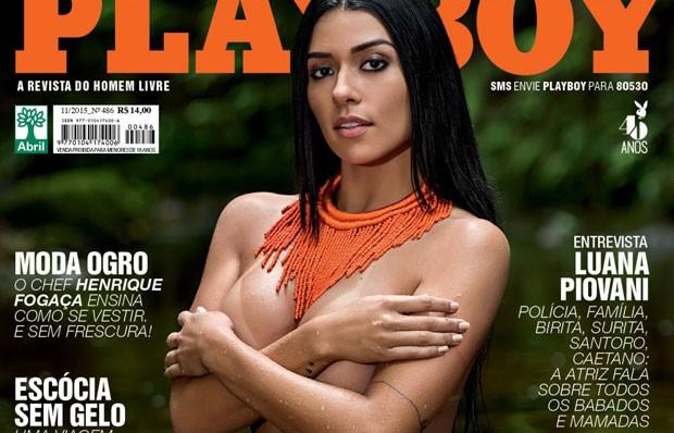 Capa da edição de novembro da revista Playboy  (Foto: Reprodução/Playboy/Facebook)