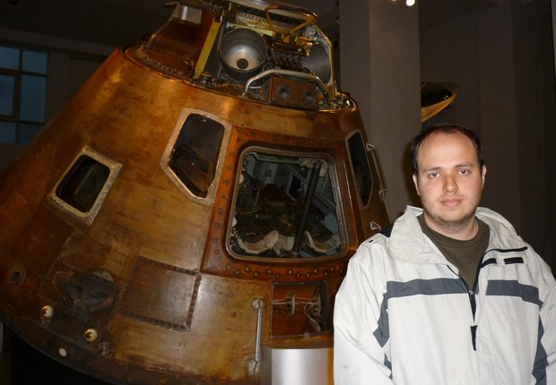 O engenheiro brasileiro Lucas Fonseca. Ele tento prever o que aconteceria a Rosetta quando a sonda chegasse ao cometa (Foto: Arqivo Pessoal)