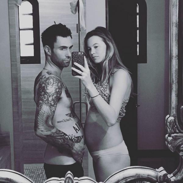 Adam Levine e Behati Prinsloo (Foto: Reprodução / Instagram)