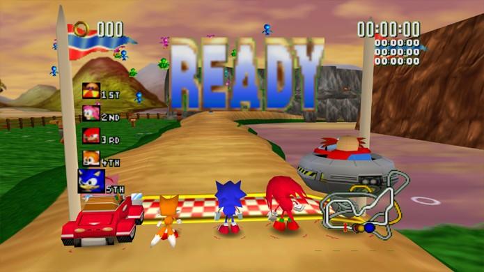 Sonic R era um jogo bem divertido de corrida, mas também uma decepção para quem esperava Sonic X-Treme (Foto: Reprodução/Alvanista)