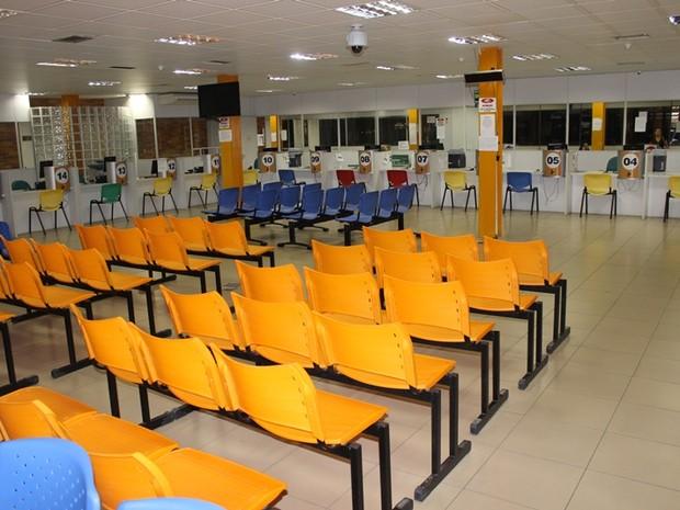 Sede do Detran-PI ficou vazia durante o primeiro dia de greve dos servidores (Foto: Gil Oliveira G1)